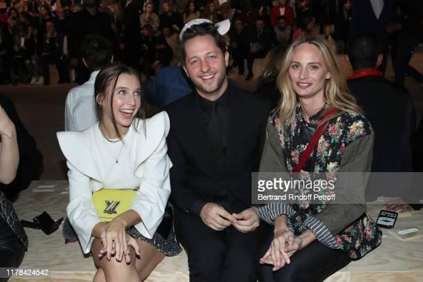 Emma Chamberlain Derek Blasberg and Lauren Santo Domingo attend the Louis Vuitton Womenswear Spring/Summer 2020 show as part of Paris Fashion Week on...