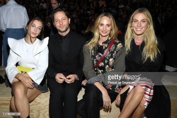 Emma Chamberlain Derek Blasberg Lauren Santo Domingo and a guest attend the Louis Vuitton Womenswear Spring/Summer 2020 show as part of Paris Fashion...