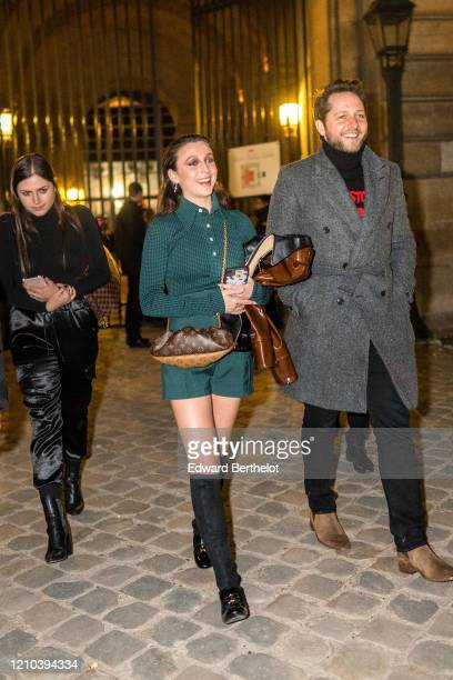 Emma Chamberlain is seen outside the Vuitton show during Paris Fashion Week Womenswear Fall/Winter 2020/2021 on March 03 2020 in Paris France
