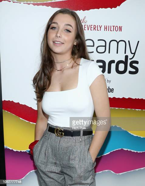 Emma Chamberlain poses backstage during The 8th Annual Streamy Awards at The Beverly Hilton Hotel on October 22 2018 in Beverly Hills California