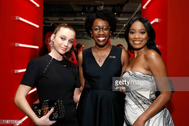Emma Chamberlain Rep Lauren Underwood and Keke Palmer attend TIME 100 Next 2019 at Pier 17 on November 14 2019 in New York City