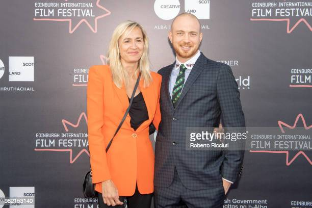 Emma Comley and Tom Beard attend a photocall for the World Premiere of 'Two for joy' during the 72nd Edinburgh International Film Festival at...