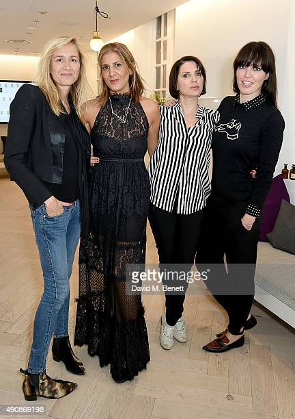 Emma Comley Azzi Glasser Sadie Frost and Nicci Hunter attend the Azzi Glasser Fragrance Launch at Harvey Nichols on October 1 2015 in London United...