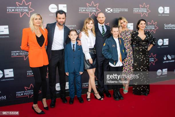 Emma Comley Daniel Mays Badger Skelton Emilia Jones Tom Beard Bella Ramsey Billie Piper and Sadie Frost attend a photocall for the World Premiere of...