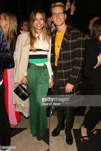 Emma Connolly and Oliver Proudlock attend the Universal Music BRIT Awards AfterParty 2018 hosted by Soho House and Bacardi at The Ned on February 21...