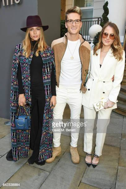 Emma Connolly Ollie Proudlock and Rosie Fortescue attend the DAKS show at the Langham Hotel during the London Fashion Week February 2017 collections...