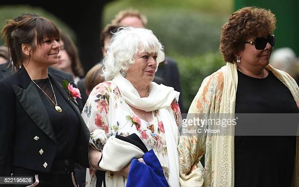 Emma Corbett Anne Corbett and Sophie Corbett arrive for the funeral of entertainer Ronnie Corbett April 18 2016 in Shirley England Ronnie Corbett...