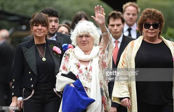 Emma Corbett, Anne Corbett and Sophie Corbett arrive for the funeral of entertainer Ronnie Corbett April 18, 2016 in Shirley, England. Ronnie Corbett...