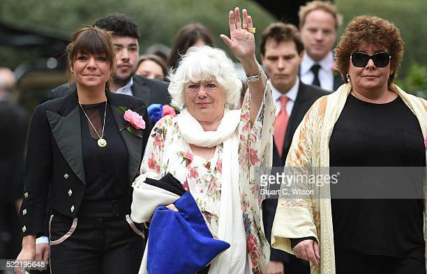 Emma Corbett Anne Corbett and Sophie Corbett arrive for the funeral of entertainer Ronnie Corbett April 18 2016 in Shirley England Ronnie Corbett...