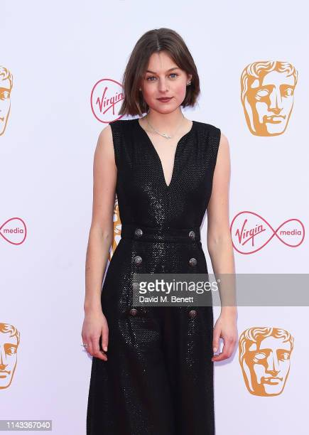Emma Corin attends the Virgin Media British Academy Television Awards at The Royal Festival Hall on May 12 2019 in London England
