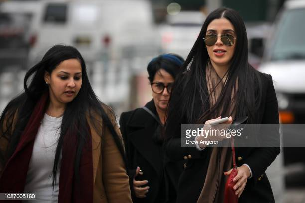 Emma Coronel Aispuro , the wife of Joaquin 'El Chapo' Guzman, arrives at the U.S. District Court for the Eastern District of New York, January 23,...