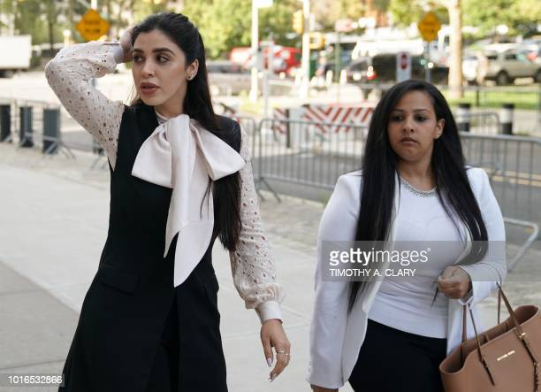 "Emma Coronel Aispuro , wife of accused Mexican drug lord Joaquin ""El Chapo"" Guzman, arrives for a pre-trial hearing at Brooklyn Federal Courthouse in..."