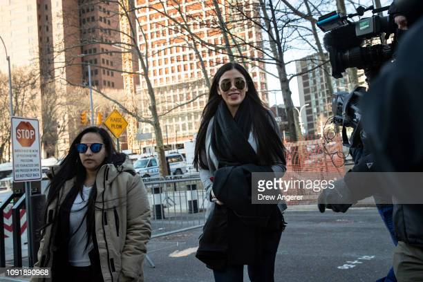 Emma Coronel Aispuro , wife of Joaquin 'El Chapo' Guzman, arrives at the U.S. District Court for the Eastern District of New York, January 31, 2019...