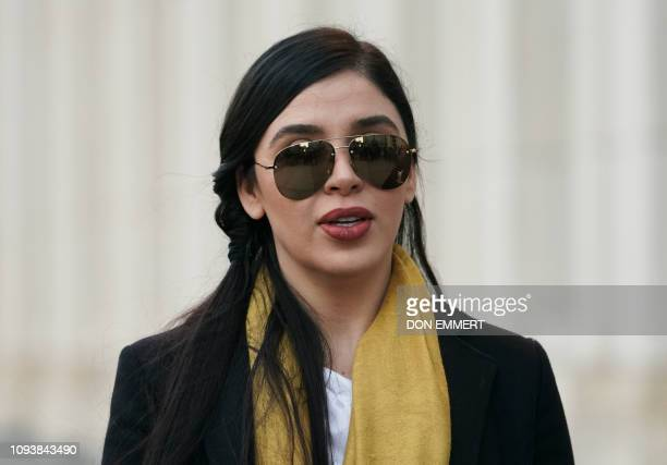 "Emma Coronel Aispuro, wife of Joaquin ""El Chapo"" Guzman, departs the US Federal Courthouse February 4, 2019 in Brooklyn, New York. - A New York jury..."