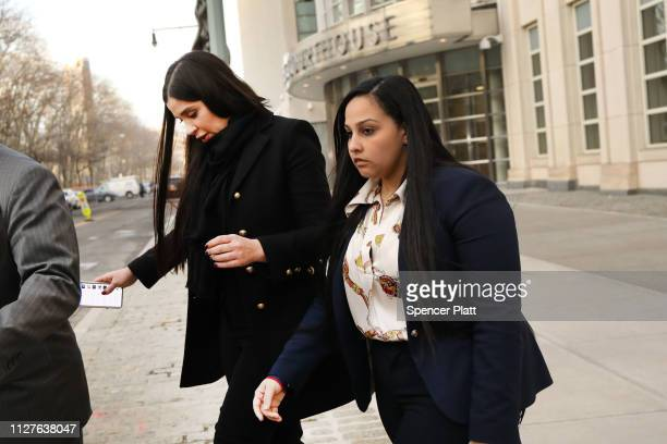 Emma Coronel Aispuro wife of Joaquin 'El Chapo' Guzman exits the US District Court for the Eastern District of New York February 5 2019 in the...