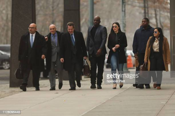 Emma Coronel Aispuro wife of Joaquin 'El Chapo' Guzman exits the US District Court for the Eastern District of New York February 7 2019 in the...