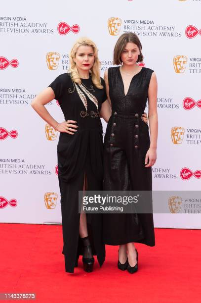 Emma Corrin and Paloma Faith attends the Virgin Media British Academy Television Awards ceremony at the Royal Festival Hall on 12 May 2019 in London...