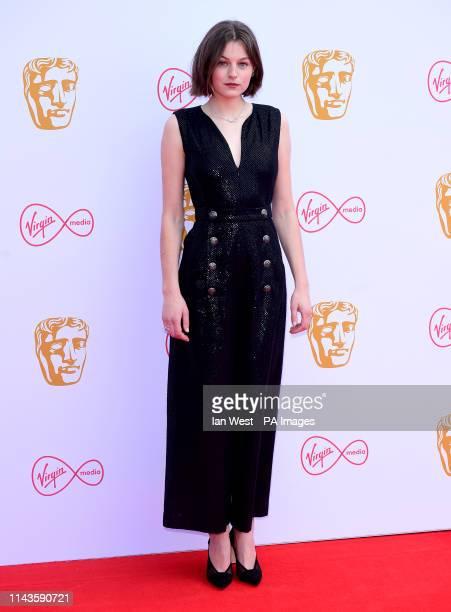 Emma Corrin attending the Virgin Media BAFTA TV awards held at the Royal Festival Hall in London