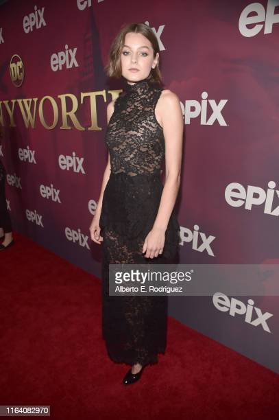 Emma Corrin attends the premiere of Epix's Pennyworth at Harmony Gold on July 24 2019 in Los Angeles California