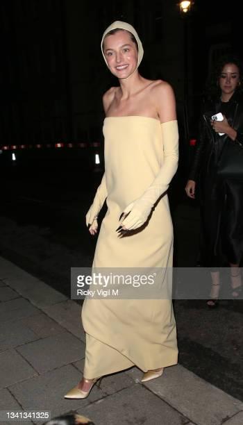 "Emma Corrin seen attending ""The Crown"" 73rd Primetime Emmys Celebration on September 19, 2021 in London, England."