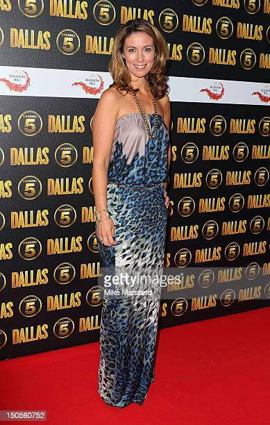 Emma Crosby attends party to celebrate the new Channel 5 television series of 'Dallas' at Old Billingsgate on August 21 2012 in London United Kingdom