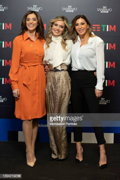 Emma D'Acquino Sabrina Salerno Laura Chimenti in the Press Room of the 70 Sanremo Music Festival Sanremo February 5th 2020