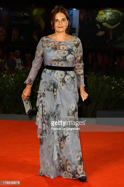 Emma Dante attends the 'Via Castellana Bandiera' premiere during the 70th Venice International Film Festival at the Palazzo del Cinema on August 29...