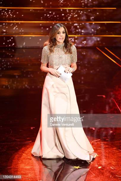 Emma D'Aquino attends the 70° Festival di Sanremo at Teatro Ariston on February 05 2020 in Sanremo Italy