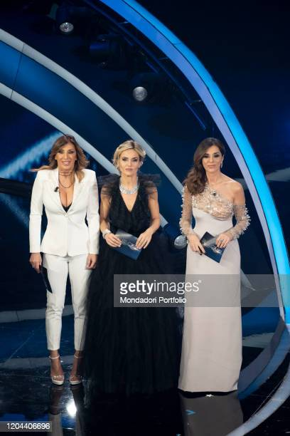 Emma D'Aquino Laura Chimenti Sabrina Salerno at the second evening of the 70 Sanremo Music Festival Sanremo February 5th 2020
