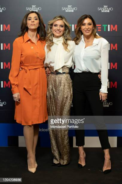 Emma D'Aquino Sabrina Salerno Laura Chimenti in the Press Room of the 70 Sanremo Music Festival Sanremo February 5th 2020