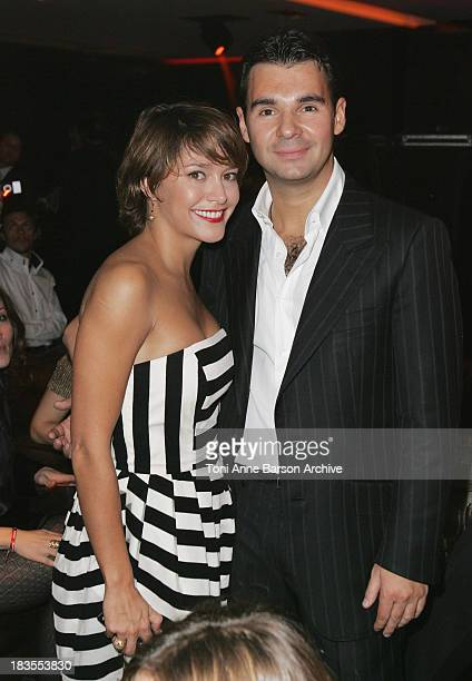 Emma De Caunes and Antoine Chevanne CEO of Floirat Group attend the Black Legend opening party on October 29 2009 in MonteCarlo Monaco