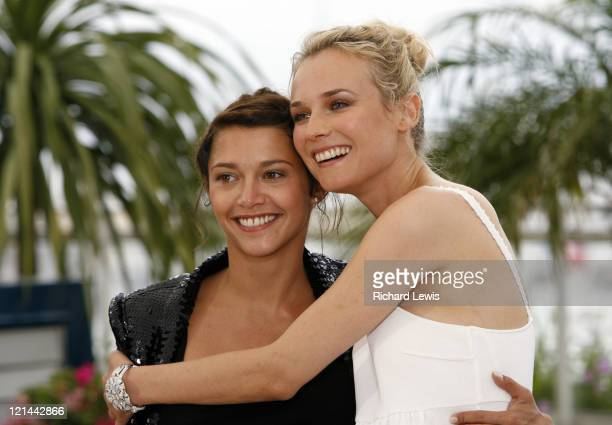 "Emma de Caunes and Diane Kruger during 2007 Cannes Film Festival - ""L'Age Des Tenebres"" Photocall at Palais des Festivals in Cannes, France."