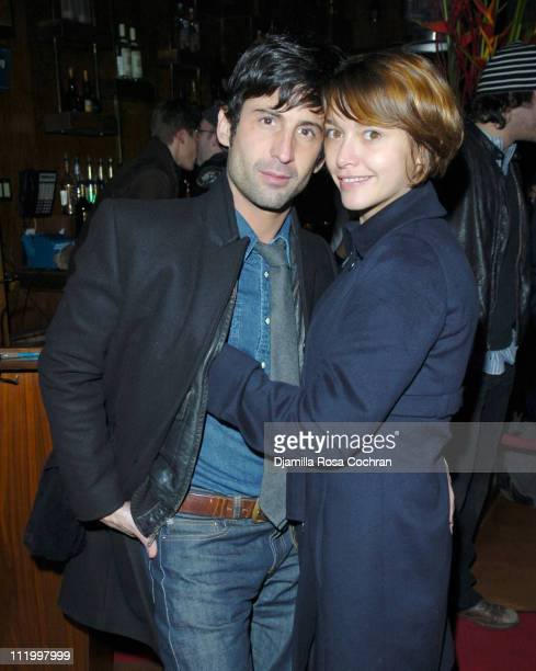 Emma De Caunes and her boyfriend Andre during Nigo Pharrell Present A Bathing Ape NYC 1st Anniversary Celebration at Marquee in New York City New...