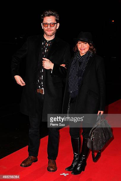 Emma De Caunes and Jamie Hewlett attends the Closing Ceremony of the 7th Film Festival Lumiere on October 18 2015 in Lyon France