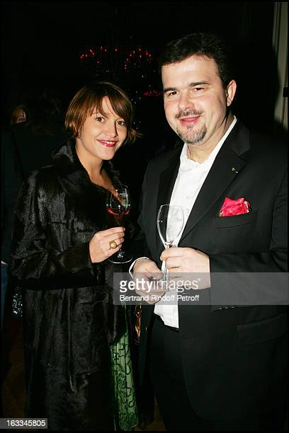 Emma De Caunes and Pierre Herme at The Ruinart Pierre Herme Evening Celebration For Saint Valentin 2006