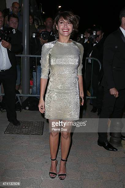 Emma De Caunes arrives at the Chanel and Vanity Fair party during the 68th annual Cannes Film Festival on May 20 2015 in Cannes France