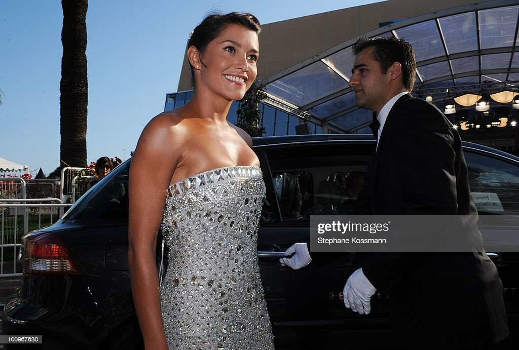 Emma de Caunes arrives at the Palais du Festivals during the 63rd Annual International Cannes Film Festival on May 23, 2010 in Cannes, France.