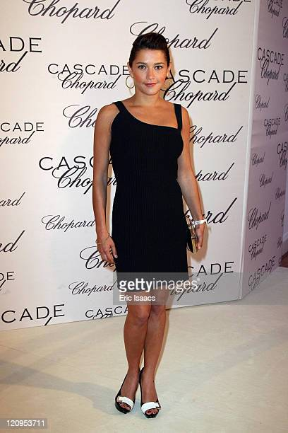 Emma de Caunes attends at Chopard Belle Du Nuit Dinner during the 62nd International Cannes Film Festival on May 13 2009 in Cannes France
