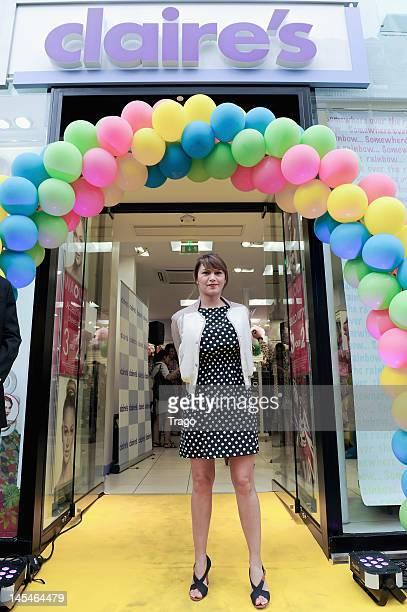 Emma de Caunes attends Claire's New Shop Inauguration on May 30 2012 in Paris France