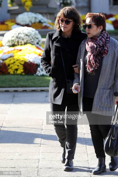 Emma De Caunes attends the funeral of Philippe Gildas at Cimetierre du Pere Lachaise on November 5 2018 in Paris France