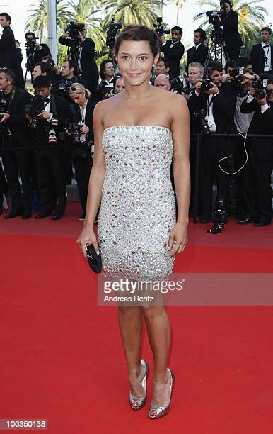 Emma de Caunes attends the Palme d'Or Award Closing Ceremony held at the Palais des Festivals during the 63rd Annual Cannes Film Festival on May 23...