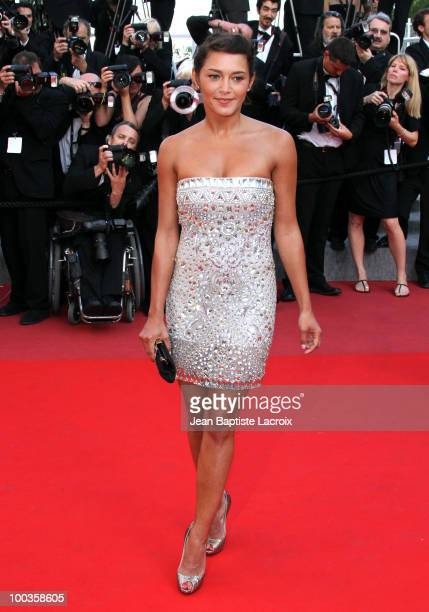 Emma de Caunes attends the Palme d'Or Closing Ceremony held at the Palais des Festivals during the 63rd Annual International Cannes Film Festival on...