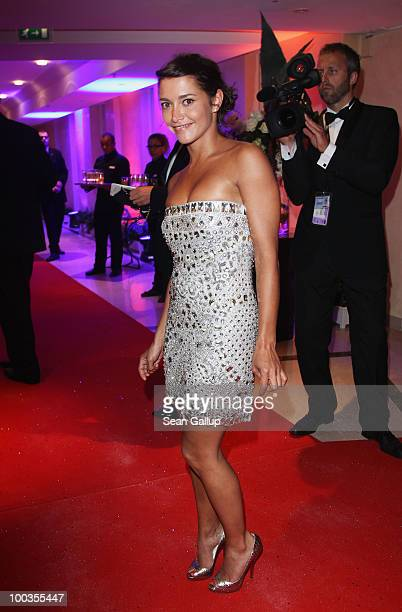 Emma de Caunes departs the Palme d'Or Award Closing Ceremony held at the Palais des Festivals during the 63rd Annual Cannes Film Festival on May 23...