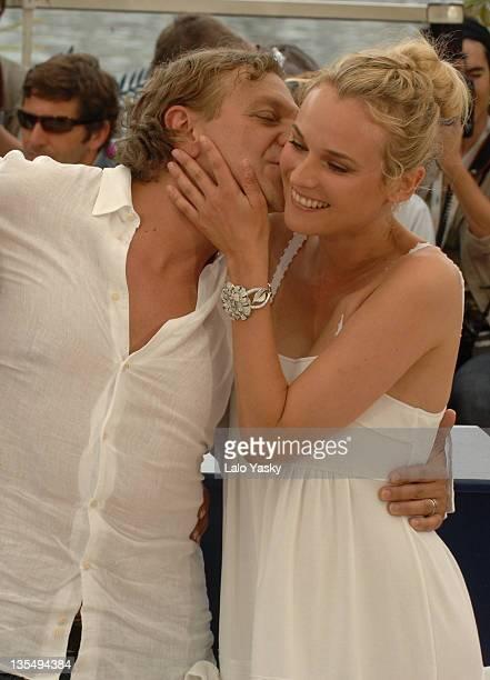 Emma De Caunes Diane Kruger and Marc Labreche during 2007 Cannes Film Festival l'Age des Tenebres Photocall Departures at Palais des Festivals in...