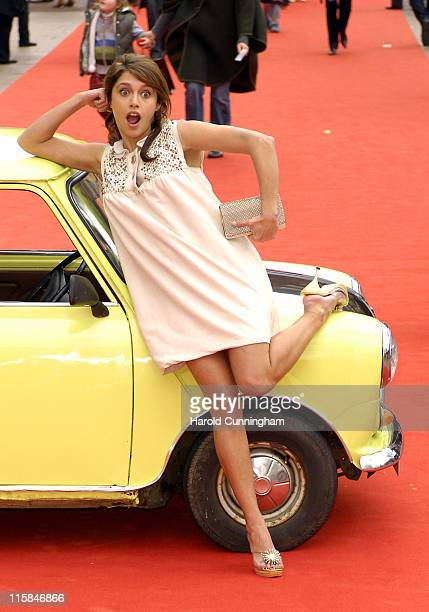 Emma de Caunes during Mr Bean's Holiday London Charity Premiere Outside Arrivals at Odeon Leicester Square in London Great Britain