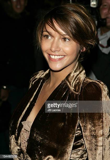 Emma de Caunes during Paris Fashion Week Pret a Porter Spring/Summer 2006 Christian Dior Arrivals at Grand Palais in Paris France
