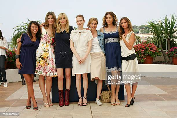 Emma de Caunes Marina Hands Emmanuelle Seigner MarieJosee Croze Anne Consigny Kathleen Kennedy and Agathe de la Fontaine at the photo call of 'Le...
