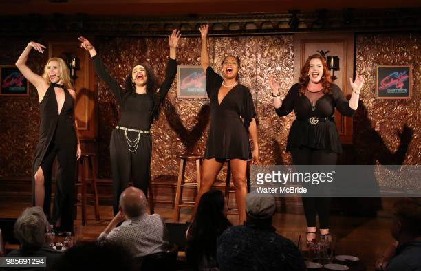 Emma Degerstedt Nicole Vanessa Ortiz Dionne D Figgins and Alysha Umphress during the Press Preview Presentation for the new production of 'Smokey...
