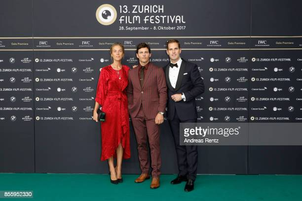 Emma Deigman James Marsden and IWC CEO Chris GraingerHerr attend the 'Shock and Awe' premiere at the 13th Zurich Film Festival on September 30 2017...