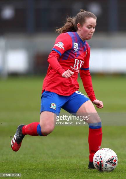 Emma Doyle of Blackburn Rovers controls the ball during the Barclays FA Women's Championship match between London City Lionesses and Blackburn Ladies...